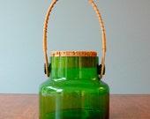 Vintage Takahashi Glass Jar - Vivid Green