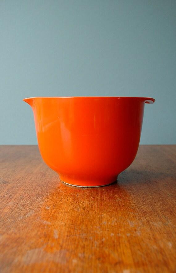 "Danish Modern Rosti ""Margrethe"" Bowl - Orange - RESERVED"