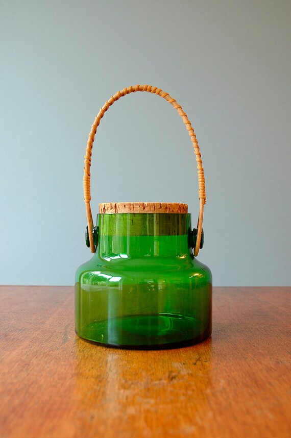 Vintage Takahashi Glass Jar - Vivid Green
