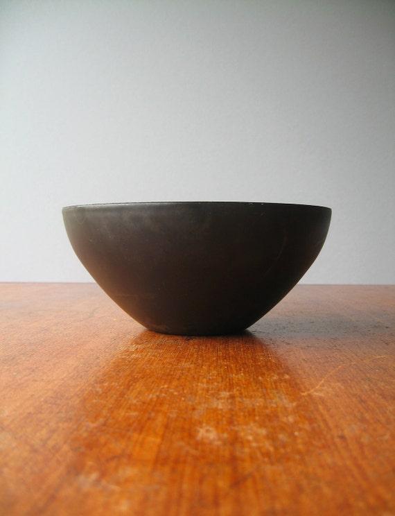 Vintage Danish Modern Enamel Krenit Bowl in Blue