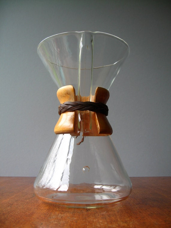 Vintage Embossed Chemex Coffee Maker / Carafe RESERVED by luola