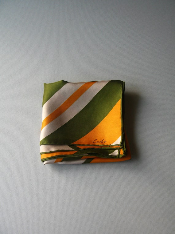 Mid Century Silk Echo Scarf - Diagonal Stripes