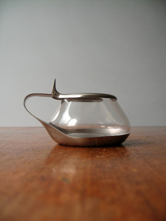 Vintage WMF Germany Stainless / Glass Sugar Bowl