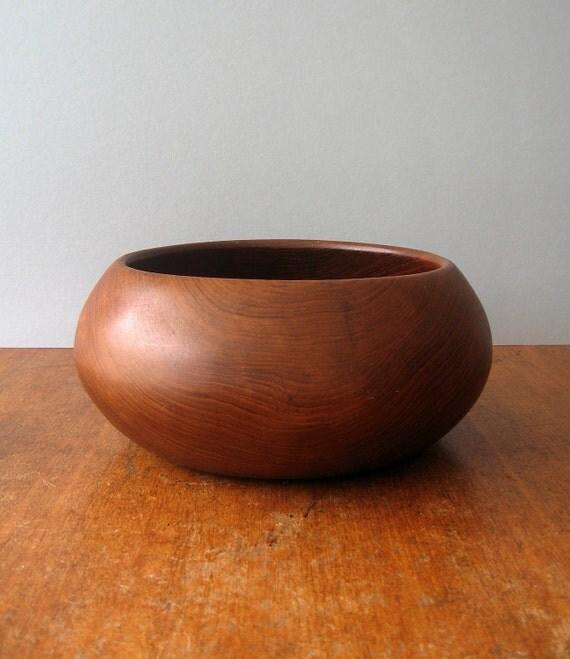 Large Vintage Danish Modern Teak Bowl
