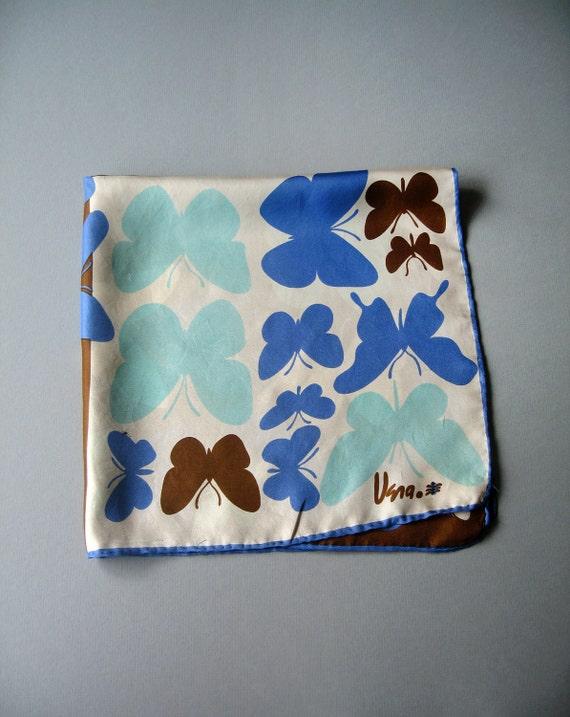 Vintage Vera Silk Scarf - Mod Butterflies