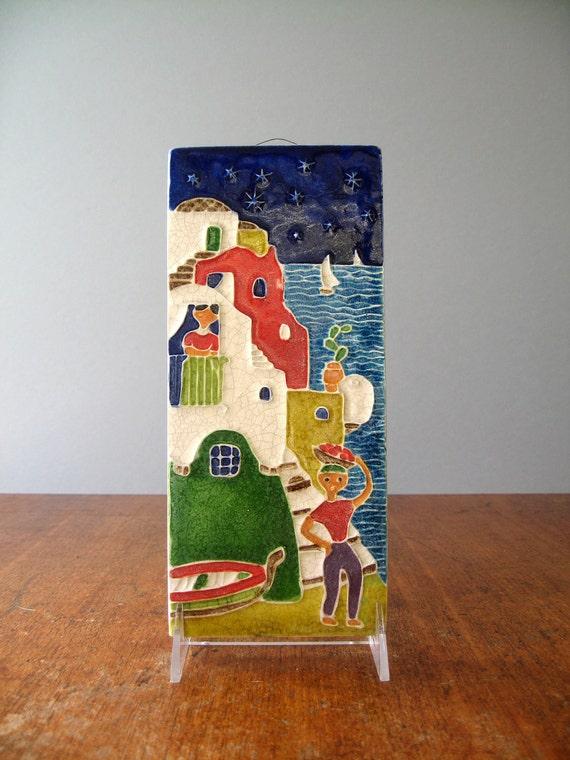 Mid Centuryy Italian Decorative Tile - Creazioni Luciano