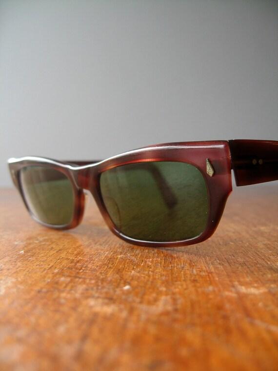 Vintage Wayfarer Style Sunglasses - French Faux Tortoiseshell