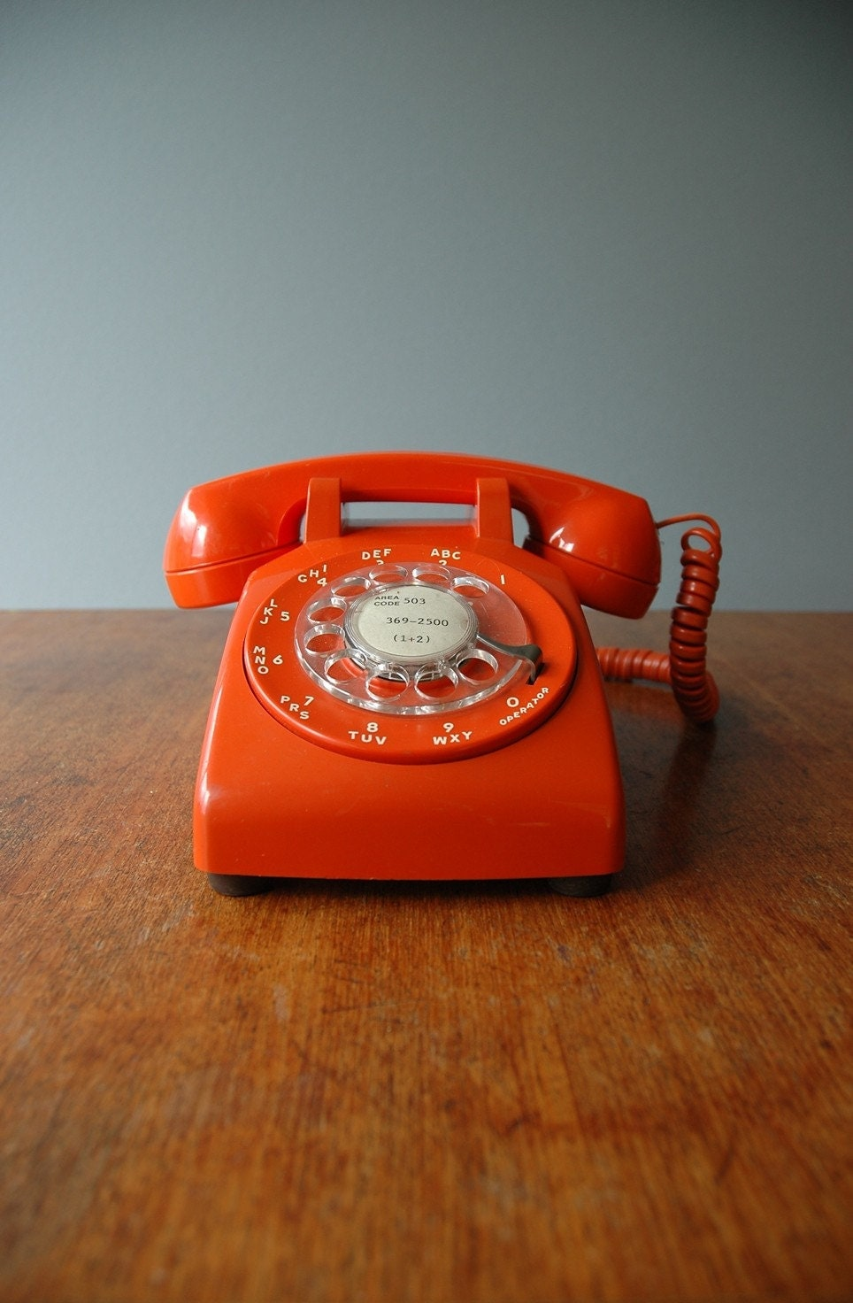 Reserved For Kuenchang 1970 S Mod Orange Rotary Phone