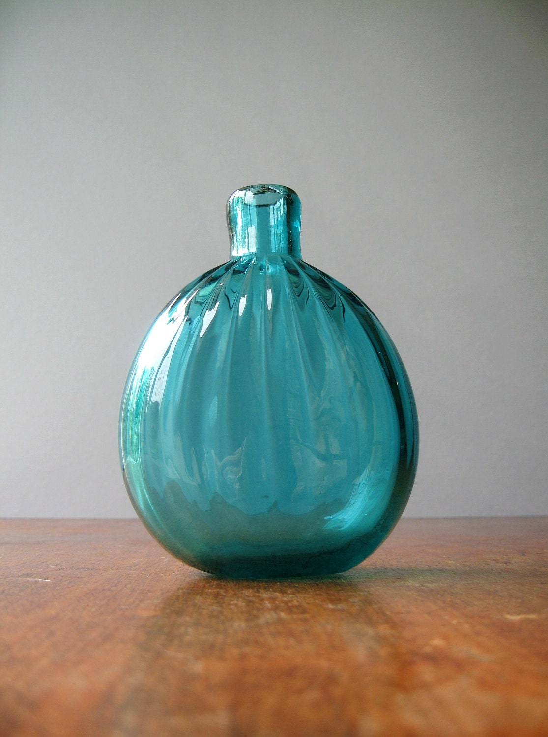Vintage Gunderson Pairpoint Stiegel Type Glass Flask Bottle