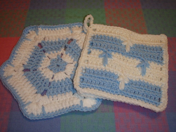 Crocheted Pot Holder and Hot Pad
