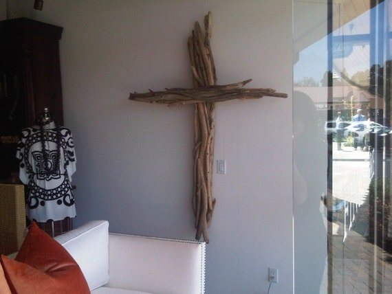 Large Intertwined Driftwood Cross-SOLD