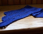 Knit Scarf Pattern  Vine & Leaf Lace Scalloped Scarf