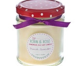 French Lavender Soy Candle Jar