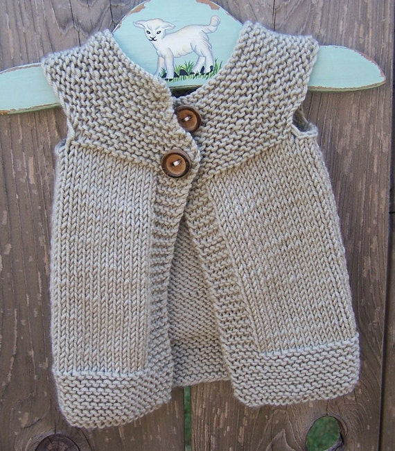 Leaf Blanket Knitting Pattern : Girls Cozy Hand Knit Sweater Vest Cashmere blend by sparrowonwing