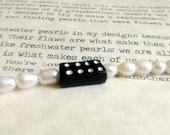 Black Domino Pearl Bracelet