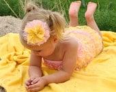 Petti Romper - Light Pink and Yellow Petti Romper