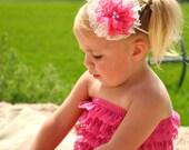 Lace Petti Romper - Pink Bubblegum