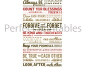 Family Rules Printable Posters