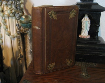 Antique French Bible Missel Circa 1900's