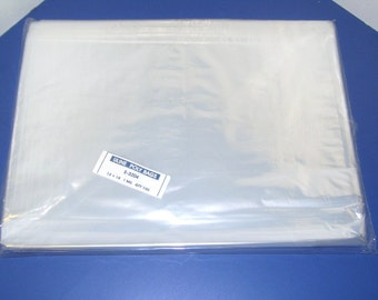 100 - Clear Poly Bags 12 x 18  Plastic Flat Open Top 1.0 mil bags - Packaging, Apparel.  Free Shipping!!!