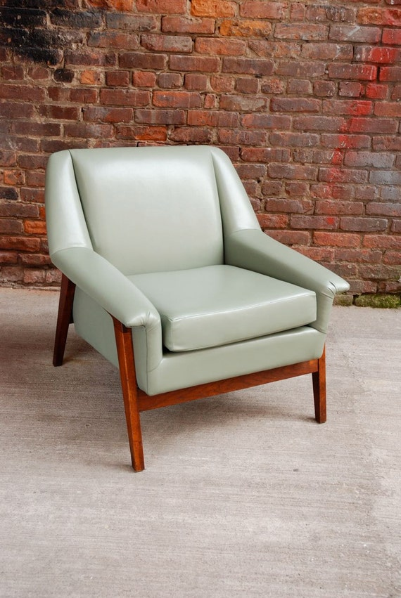 A Beautiful Reupholstered Mid-Century Teak Club Chair