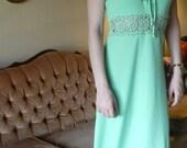 Lime Green 60s Halter Dress