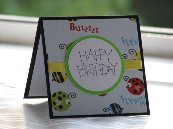All Buzz for Bugs - Birthday Greeting Card