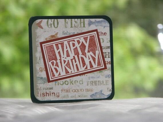 CLEARANCE Birthday Greeting Card - Goin' Fishin'