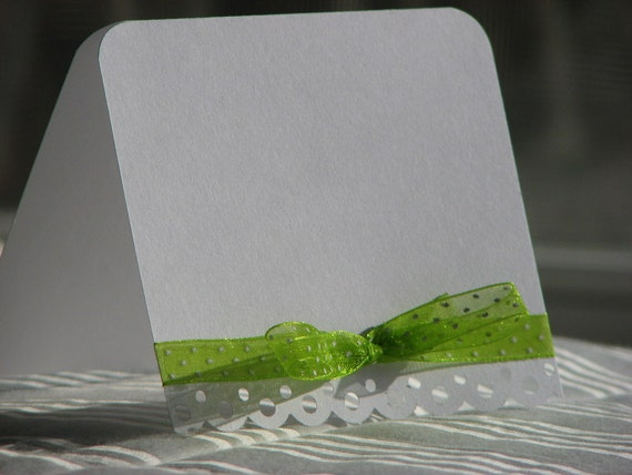 Simple and Elegant and Lacy Blank Note Cards