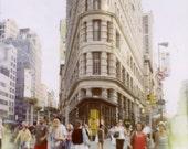 landscape with flatiron - 5x5 fine art new york city polaroid photo