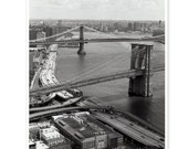 spans and arches of the brooklyn bridge - 8x10 fine art photo