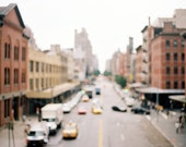 it was all a blur (on the high line) - 5x7 fine art nyc photo