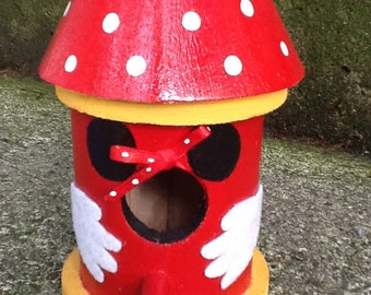 Minnie Mouse Inspired, Decorative Birdhouse
