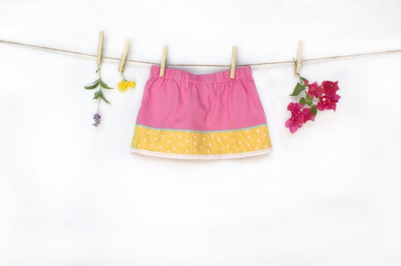 Children's Clothing, Girl's Skirt,  Size 2/3,  Pink, Yellow, Children, Kid's Clothing