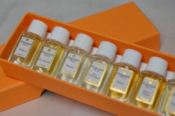 Boxed Set FRAGONARD Perfumes Miniature Mini Perfumes 10 Bottles PERFUME 2 ml Each