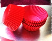 Red STANDARD Greaseproof baking cups, cupcake liners (100)