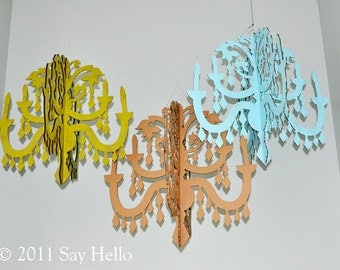 SMALL DIY Cardboard Chandelier