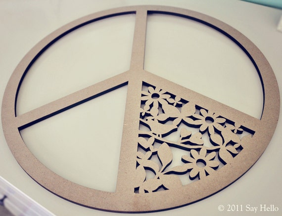 Peace Sign Wall Hanging