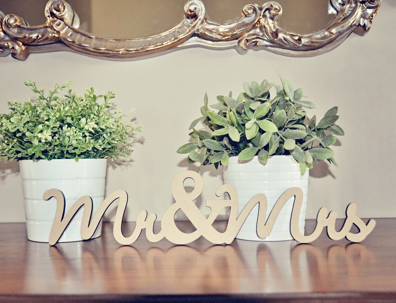 Mr & Mrs Wood Wedding Decoration