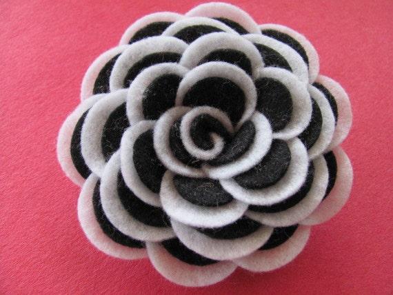 Felt Rose Pattern ABBEY ROSE Felt Flower Tutorial Hairclip Headband Brooch Pin Home Decor Accessory PDF ePattern eBook Tutorial How To
