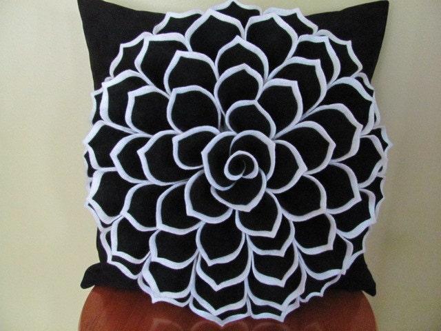 Decorative Flower Pillows : Decorative Pillow Felt Flower Pillow Pattern SOPHIA FLOWER