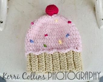 Crochet Cupcake Hat
