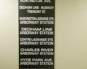 Boston Transit Roll Sign