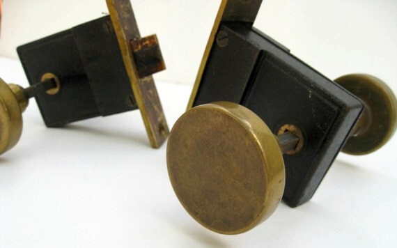 Vintage Brass Door Knobs With Hardware Midcentury Modern
