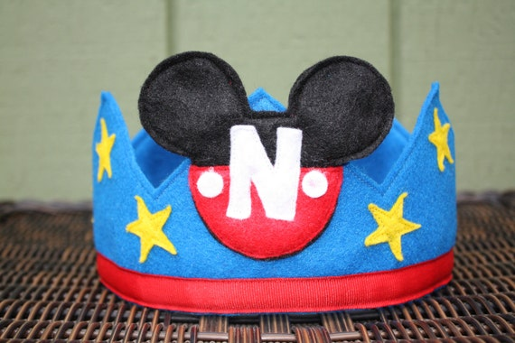 Mickey Mouse Felt Crown Blue