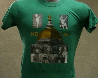 Vintage 80s NORTE DAME '56 T Shirt Medium