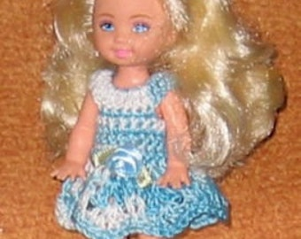 Handmade Crochet Dress For Kelly Barbie number 568