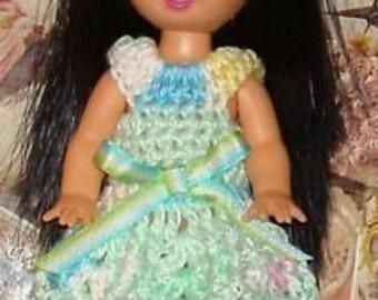 Handmade Crochet Dress For Kelly Barbie number 673