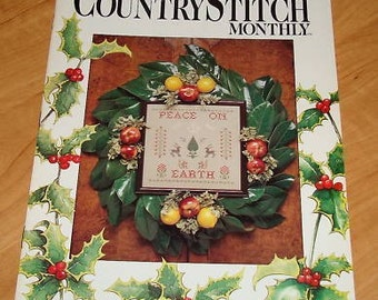 OOP Country Stitch Monthly Cross Stitch Magazine  DEC 1988