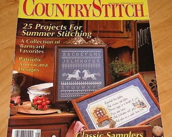 OOP Country Stitch  Cross Stitch Magazine  JULY/AUG 1990
